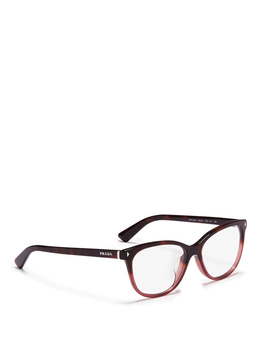 57a0373a2a6a buy lyst prada tortoiseshell ombré acetate optical glasses 0a530 4189c