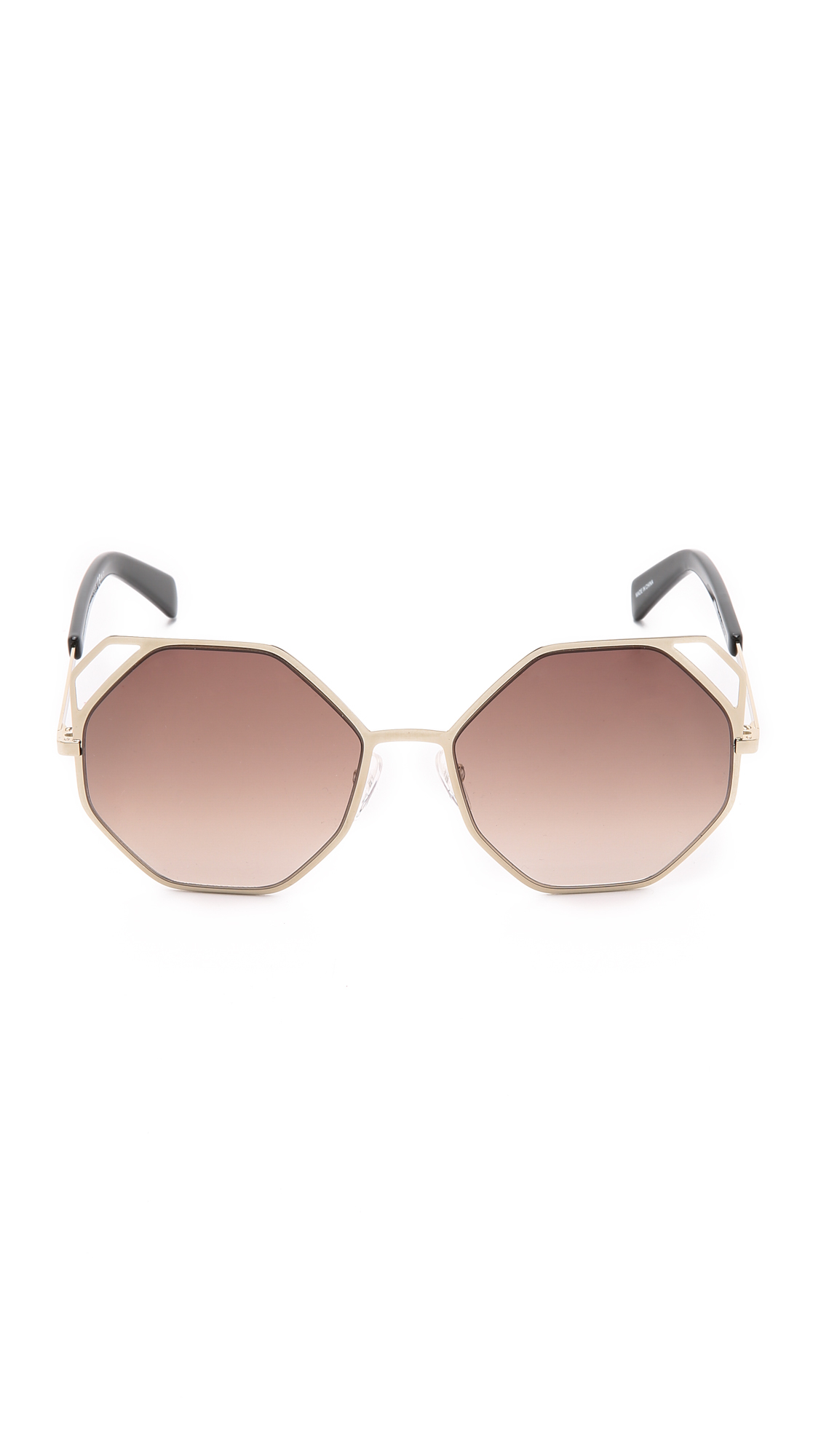 Geometric Sunglasses  marc by marc jacobs geometric sunglasses gold brown grant in