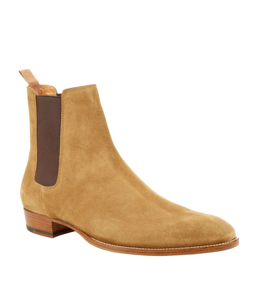 Saint Laurent Eddie Suede Chelsea Boot in Brown for Men - Lyst f57adebb4