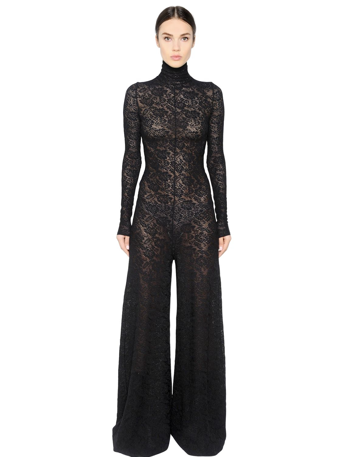 Black Lace Jumpsuit Photo Album - Reikian