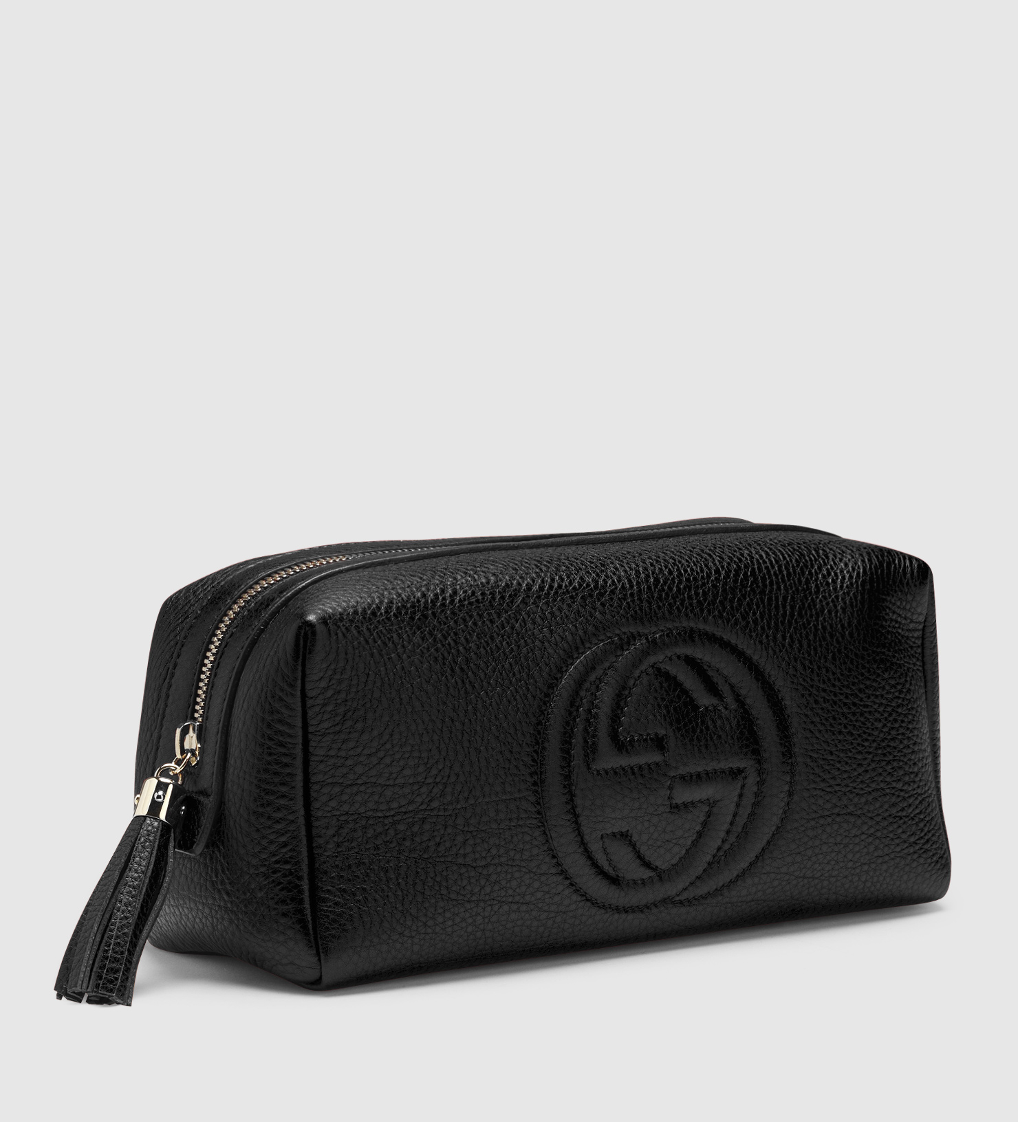 7c9bc6f59f94ba Gucci Cosmetic Bag Black Leather | Stanford Center for Opportunity ...