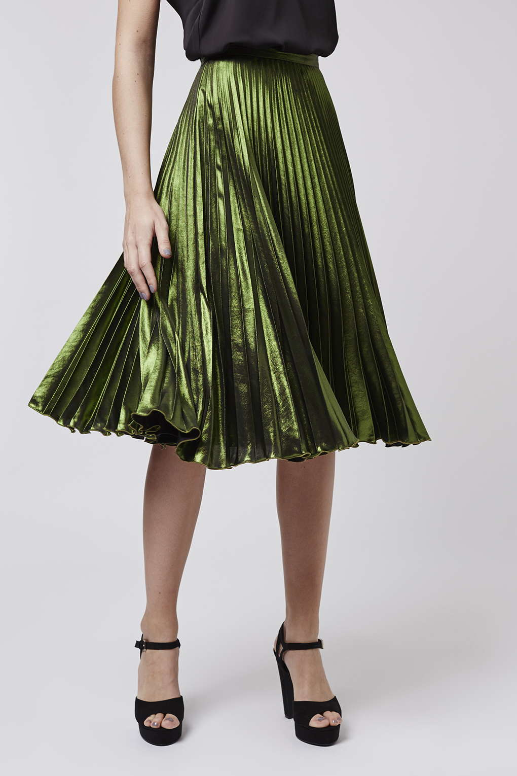 Green Pleated Skirt - Dress Ala