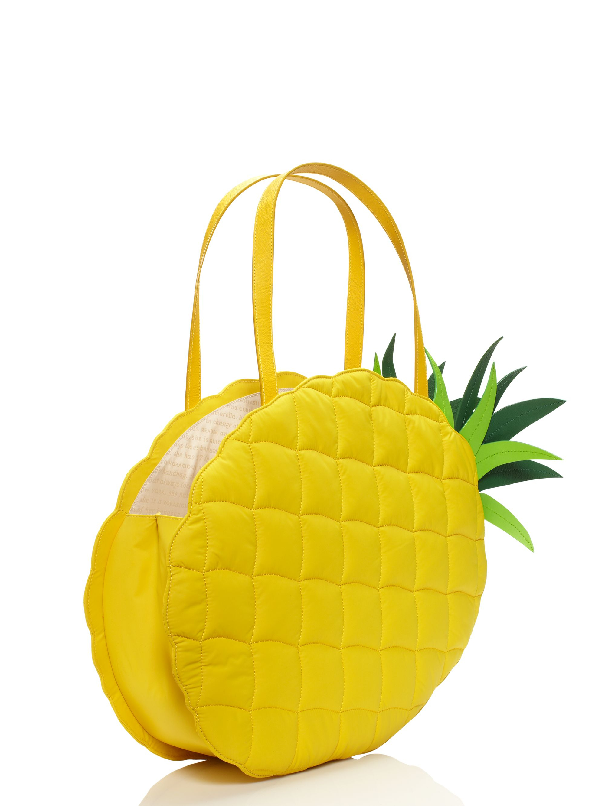 Kate Spade New York Wing It Pineapple Tote In Yellow Lyst