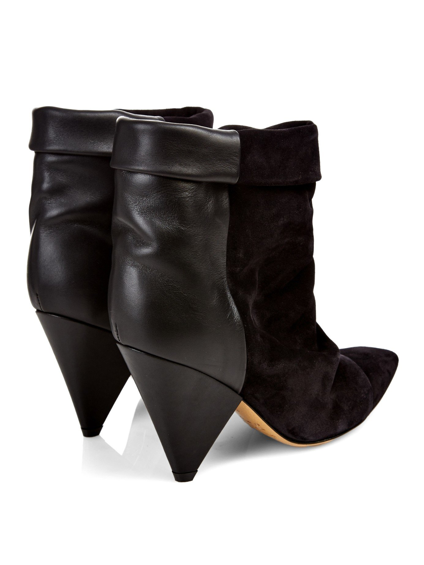 Lyst Isabel Marant Andrew Leather And Suede Ankle Boots