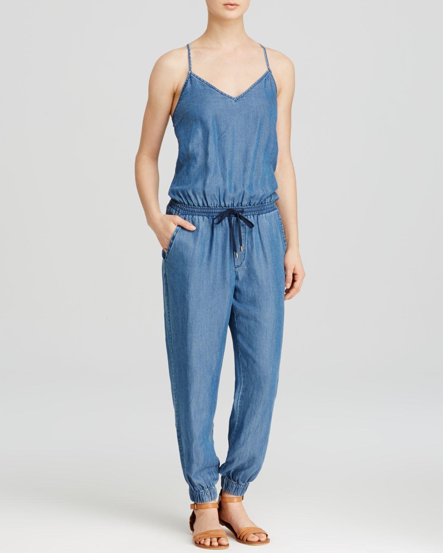 37c0ccc9c5e8 Lyst - Splendid Jumpsuit - Chambray Spaghetti Strap in Blue
