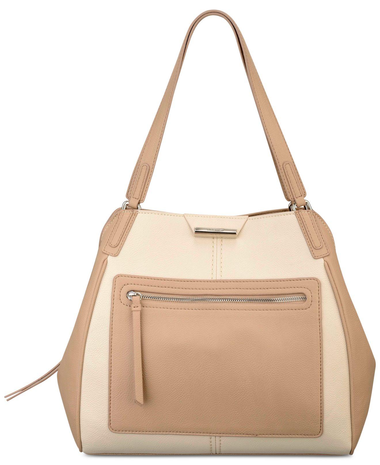 4da3882adc8 Lyst - Nine West Just Zip It Large Shoulder Bag in Brown
