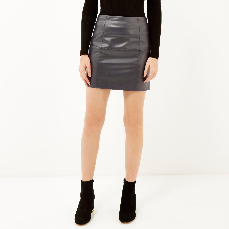 river island black vinyl pencil skirt bnwt 12