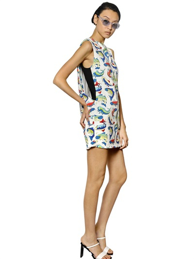 Kenzo column white dress