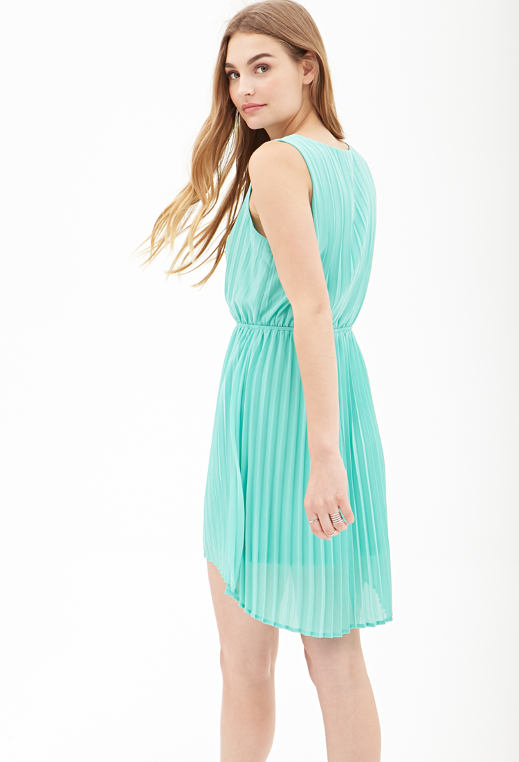ffba3d837f41 Lyst - Forever 21 Pleated Chiffon Dress You ve Been Added To The ...