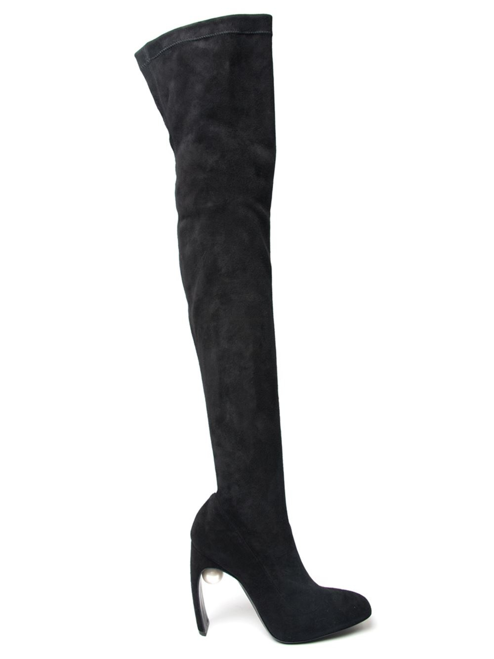 MM6 Maison Martin Margiela Black Casati Pearl Over-the-Knee Boots Tlm5PtDTTt