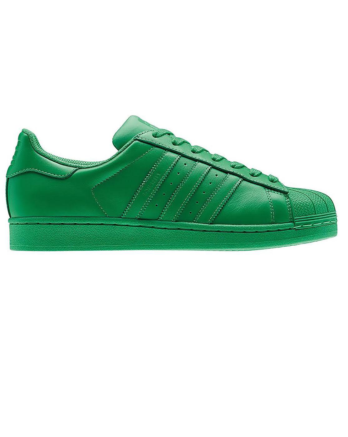adidas originals superstar supercolor green sneakers in. Black Bedroom Furniture Sets. Home Design Ideas