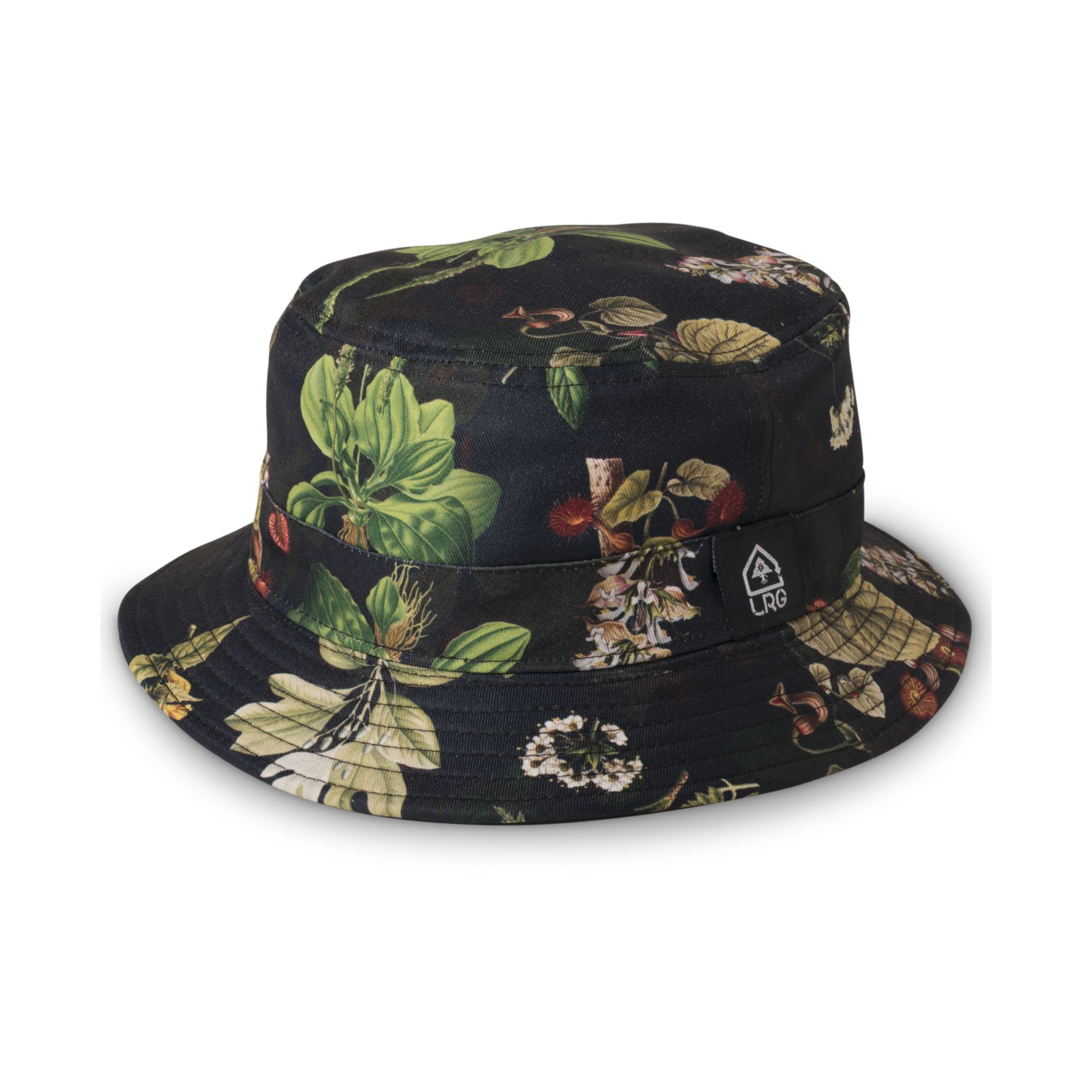 eb52451cd24 Lyst - LRG Floral Print Bucket Hat in Black for Men