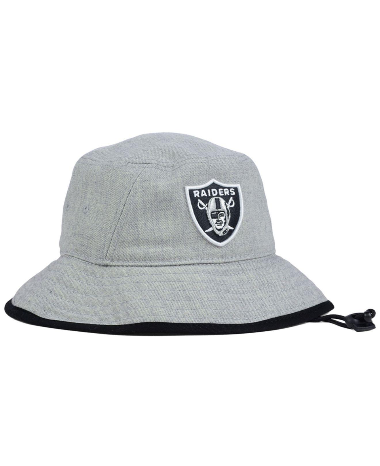 c984ddf07ff ... cheapest lyst ktz oakland raiders nfl heather gray bucket hat in gray  892a0 ce287