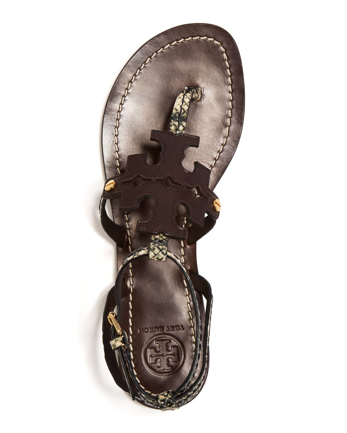 e39e3772c Lyst - Tory Burch Flat Thong Sandals - Chandler in Black