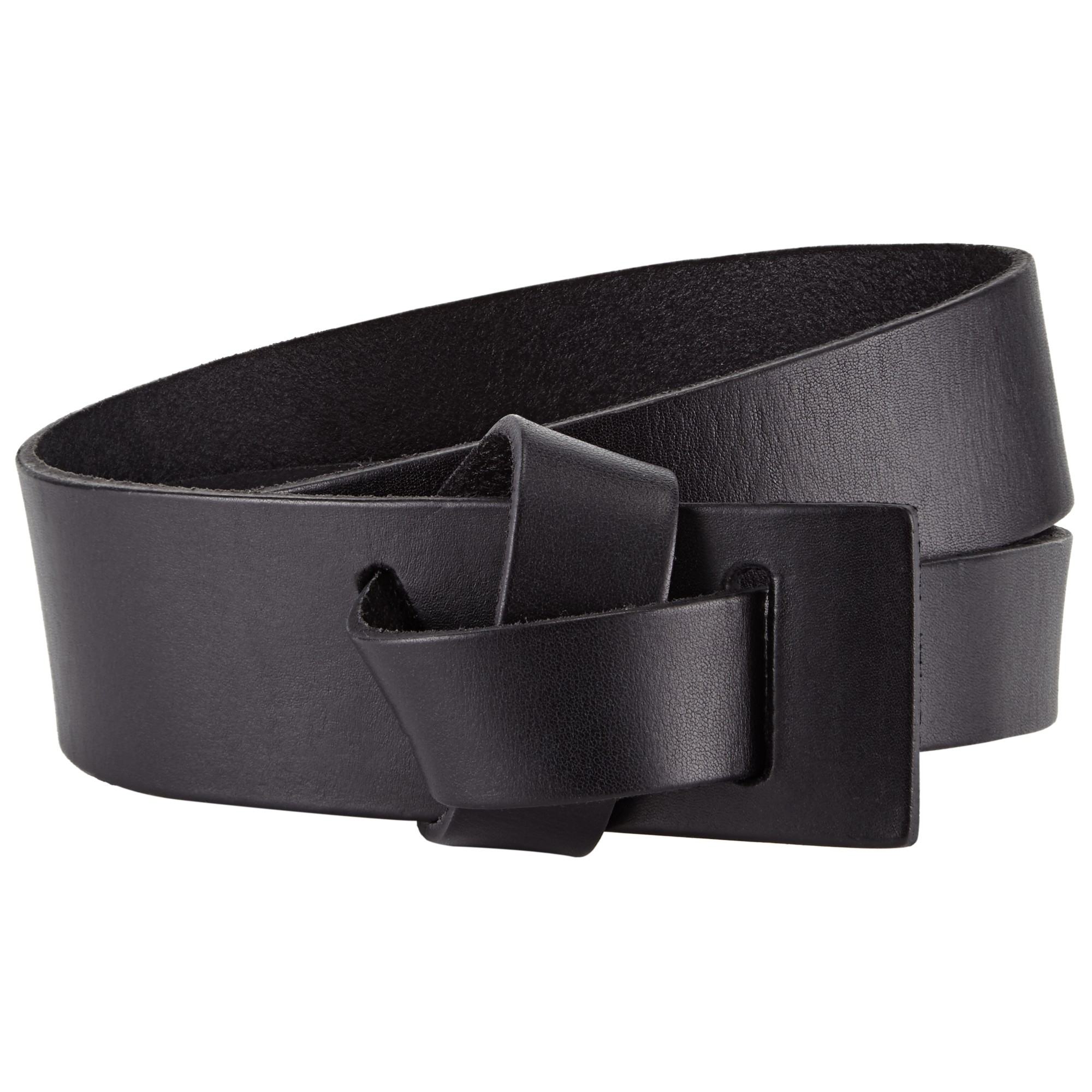 lewis willow leather wide loop belt in black lyst