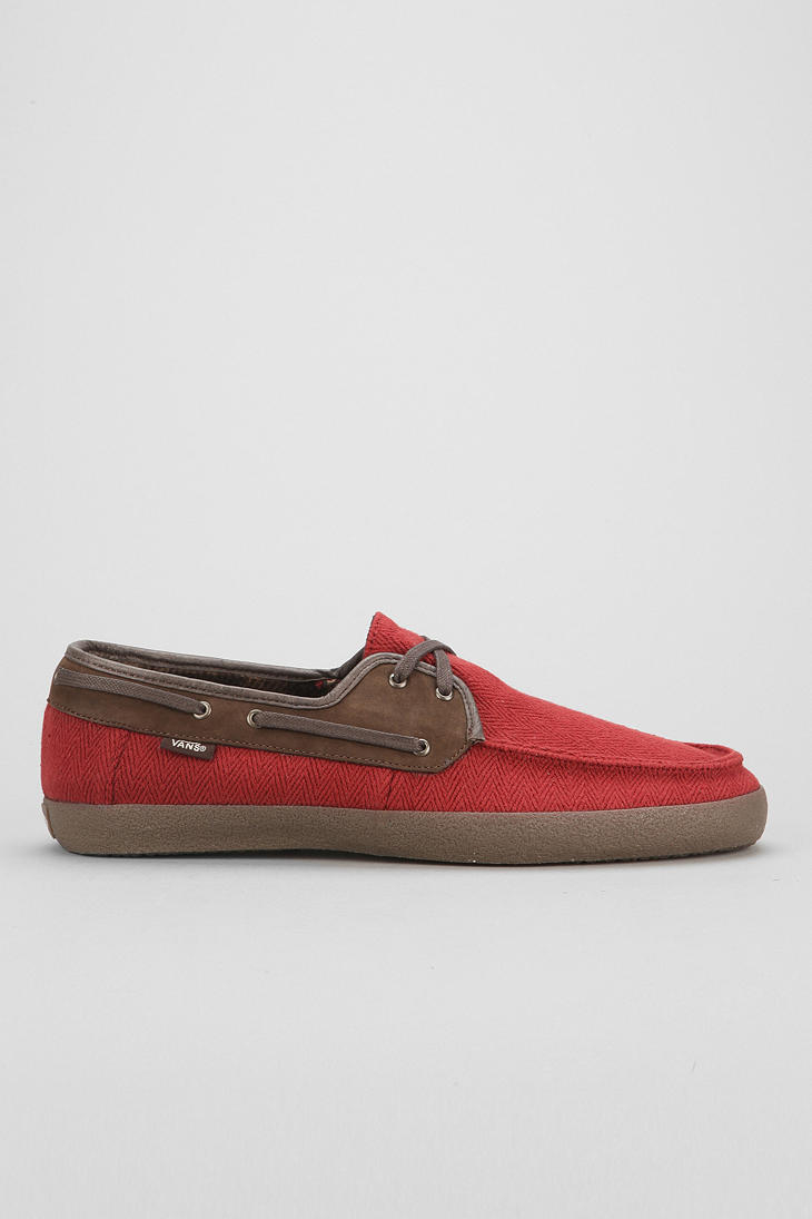 Bugatchi Boat Shoes Red