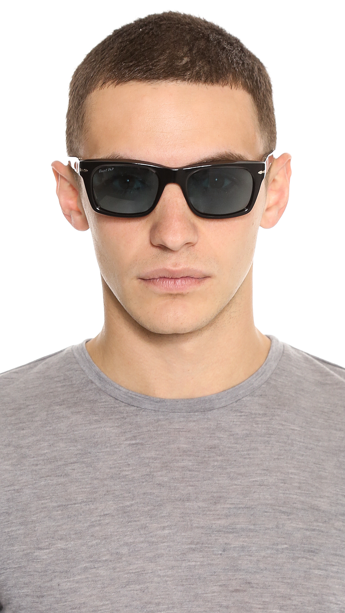 ce6acab0c13 Lyst - Persol Polarized Rectangular Sunglasses in Black for Men