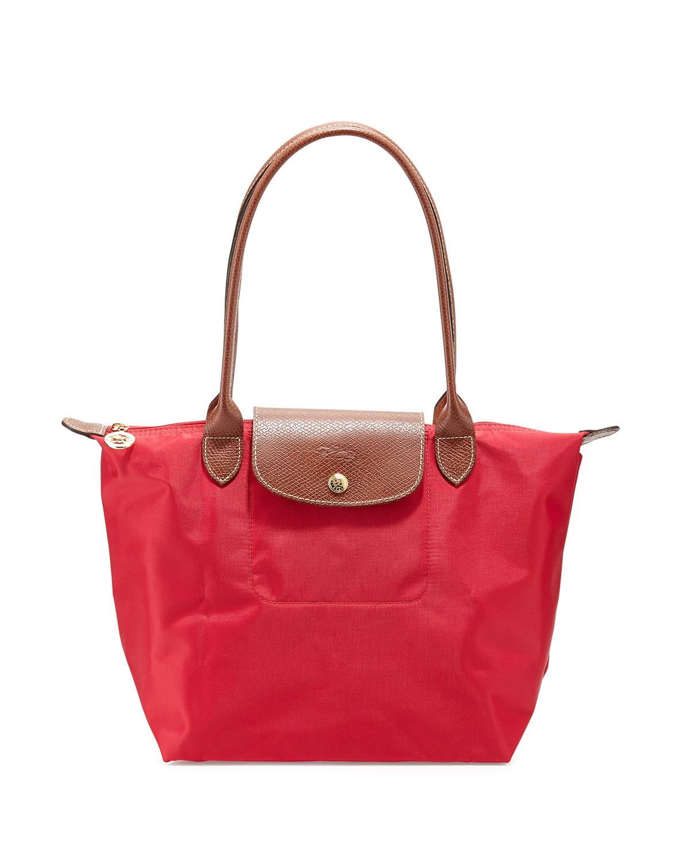 Longchamp Le Pliage Medium Shoulder Tote Bag In Red Lyst