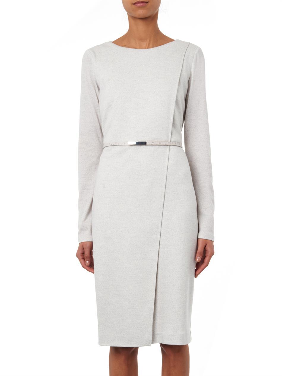 Lyst Max Mara Crusca Dress In Gray