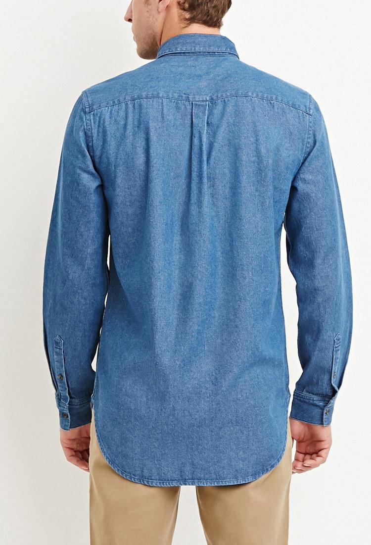 denim shirt pockets - photo #3