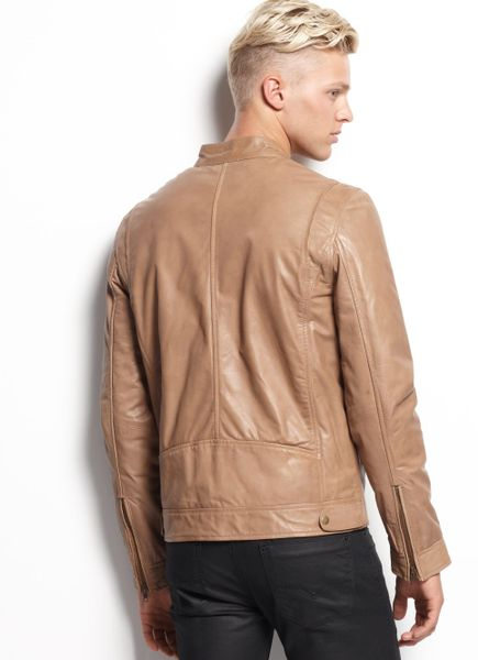 Guess Mens Leather Jacket Guess Jacket Leather Moto
