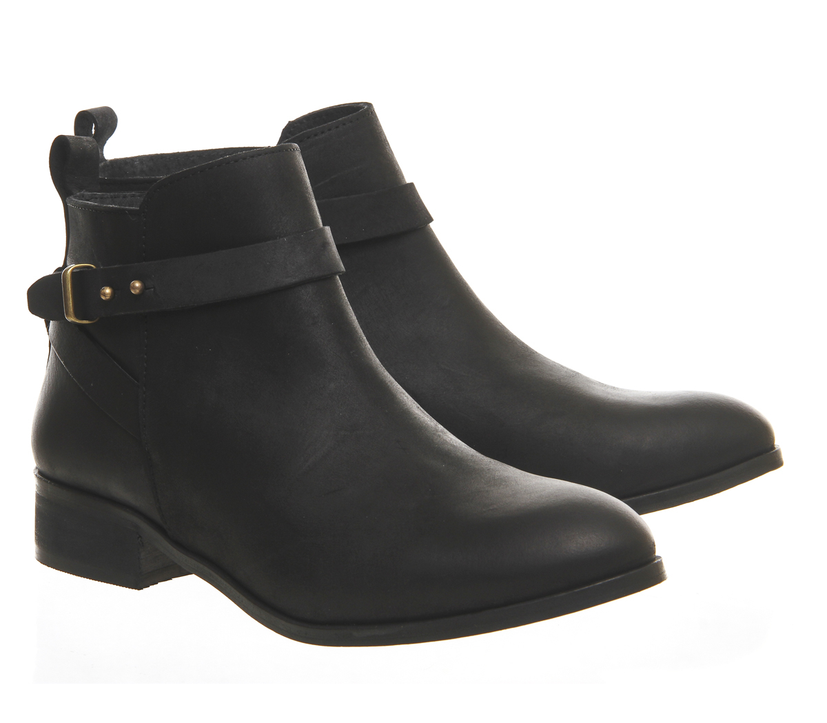 office instinct ankle boots in black lyst