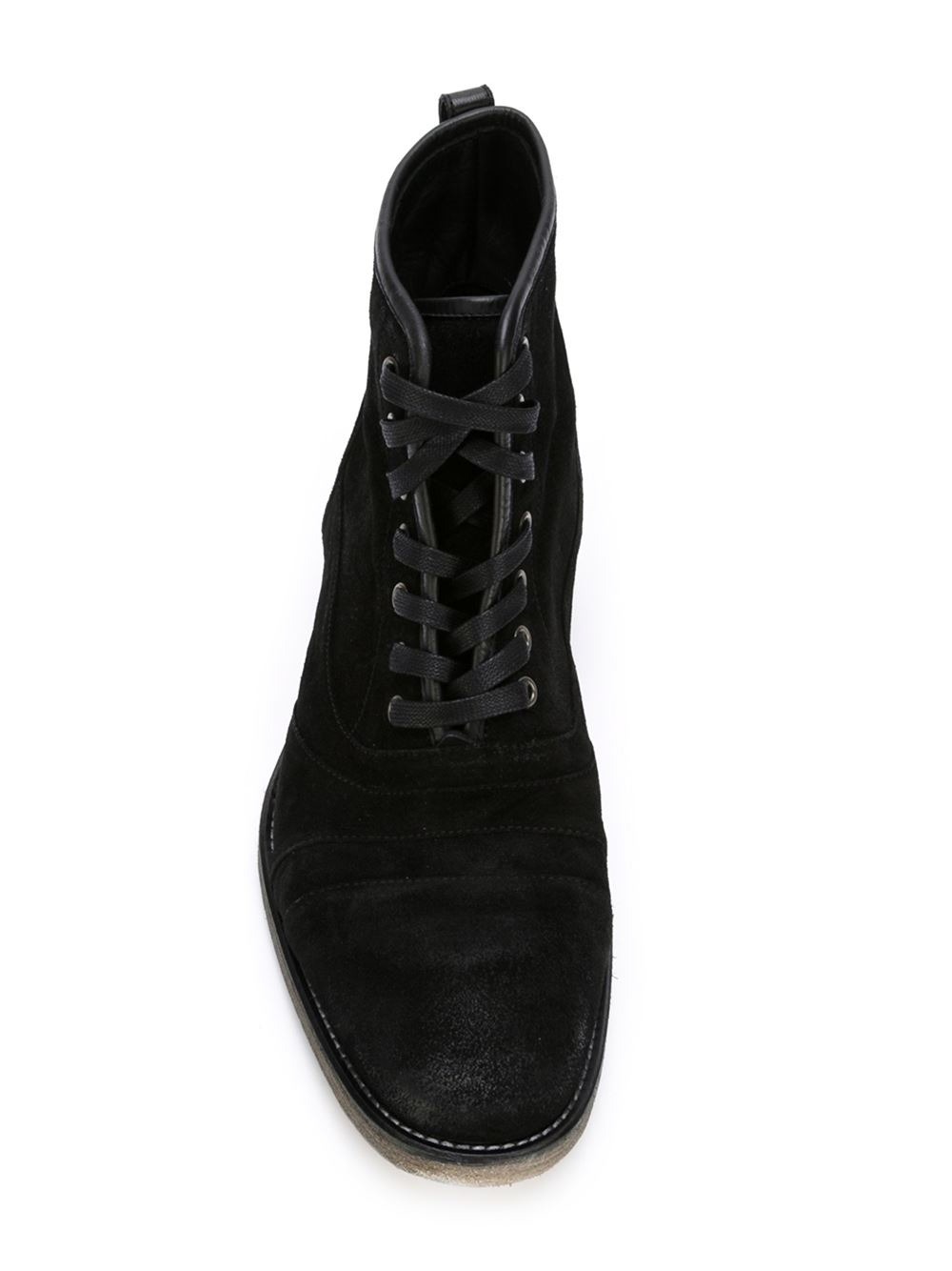 John Varvatos Utility Boots In Black For Men Lyst