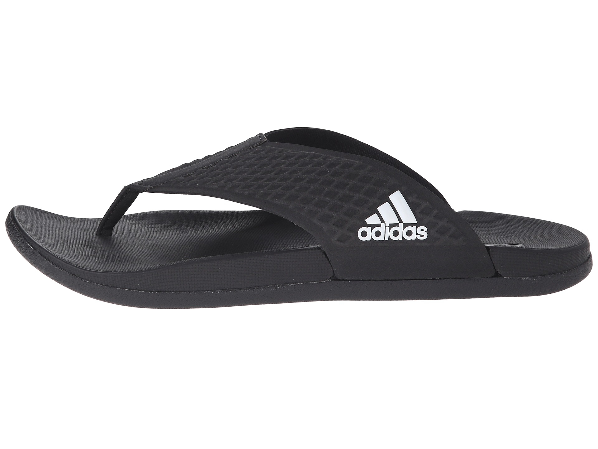 Lyst - adidas Originals Adilette Sc Plus Thong in Black for Men 35e1a615916d
