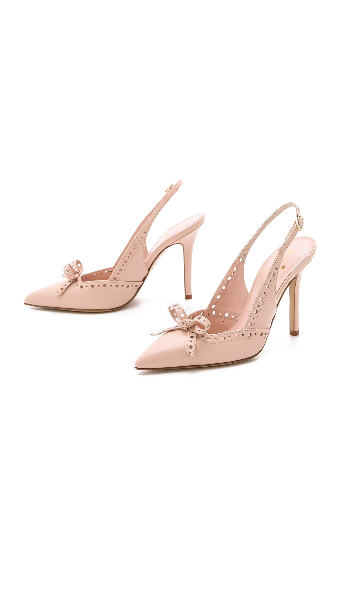 Kate Spade New York Lali Bow Slingback Pumps Pale Pink In