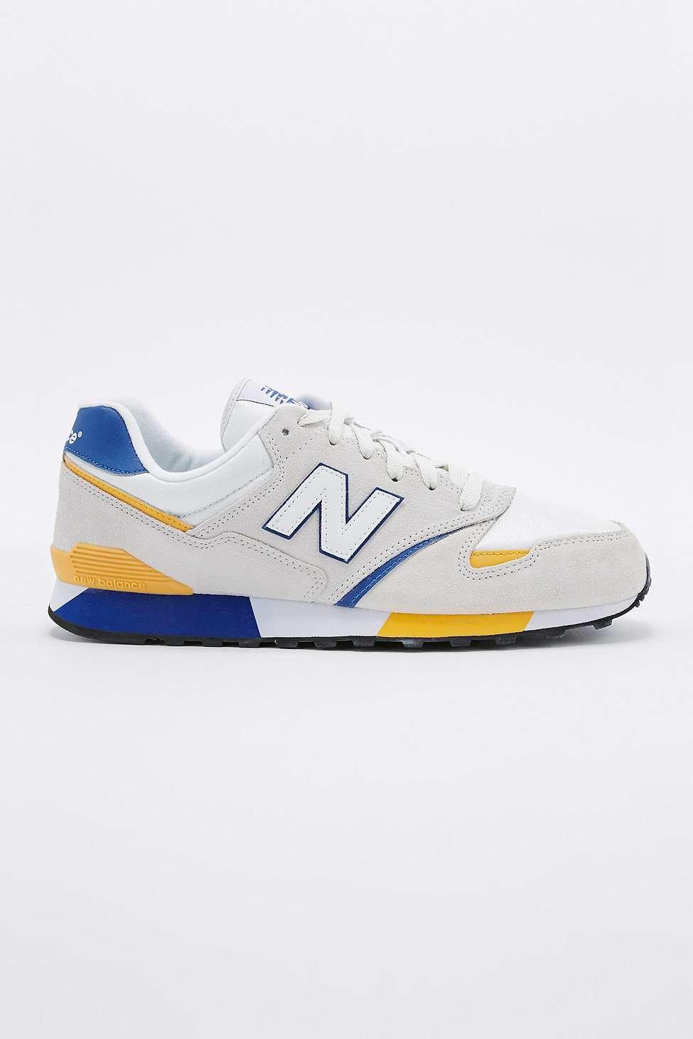 new balance 446 white and orange trainers