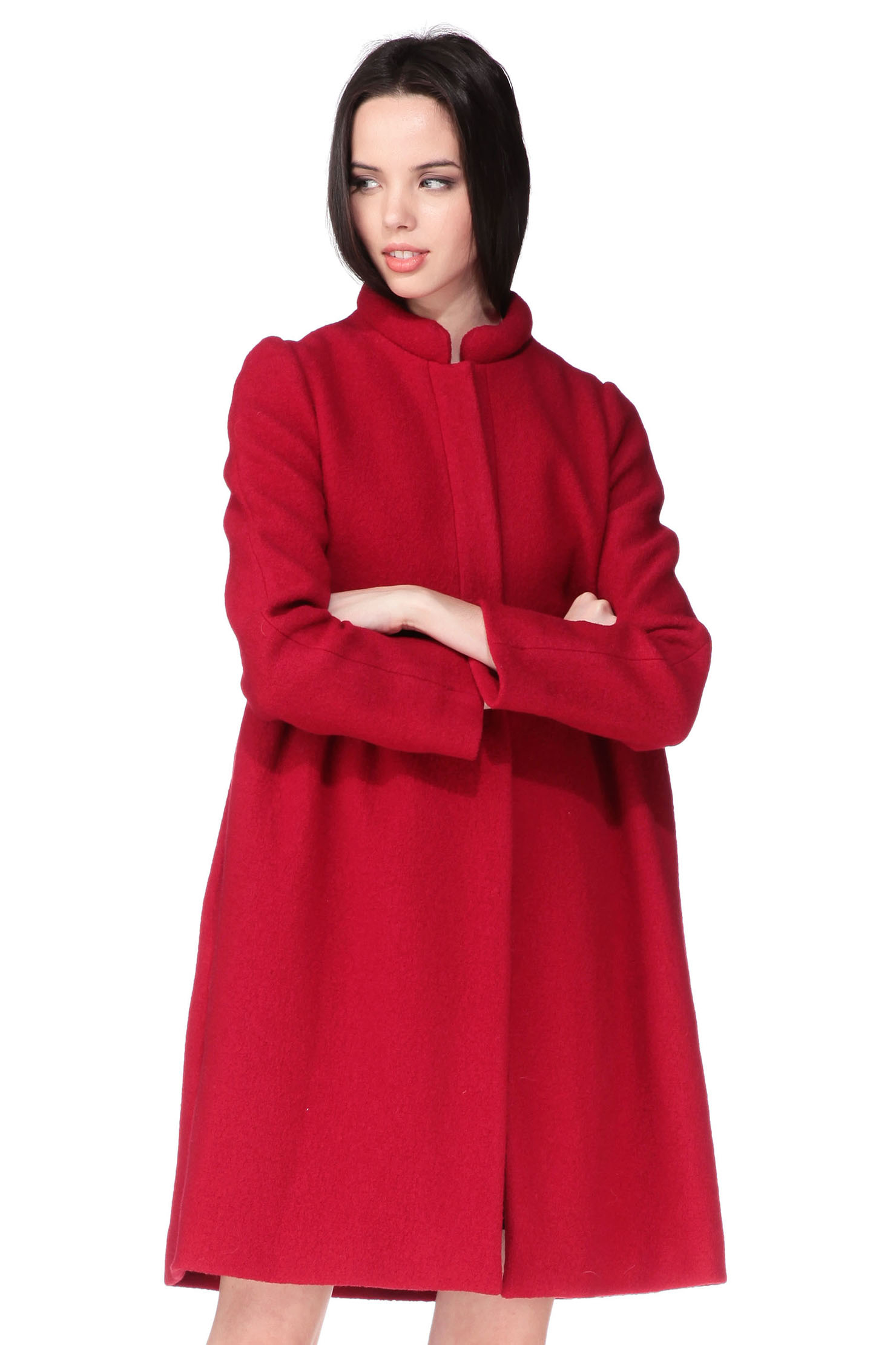 Cacharel Long Coat in Red | Lyst