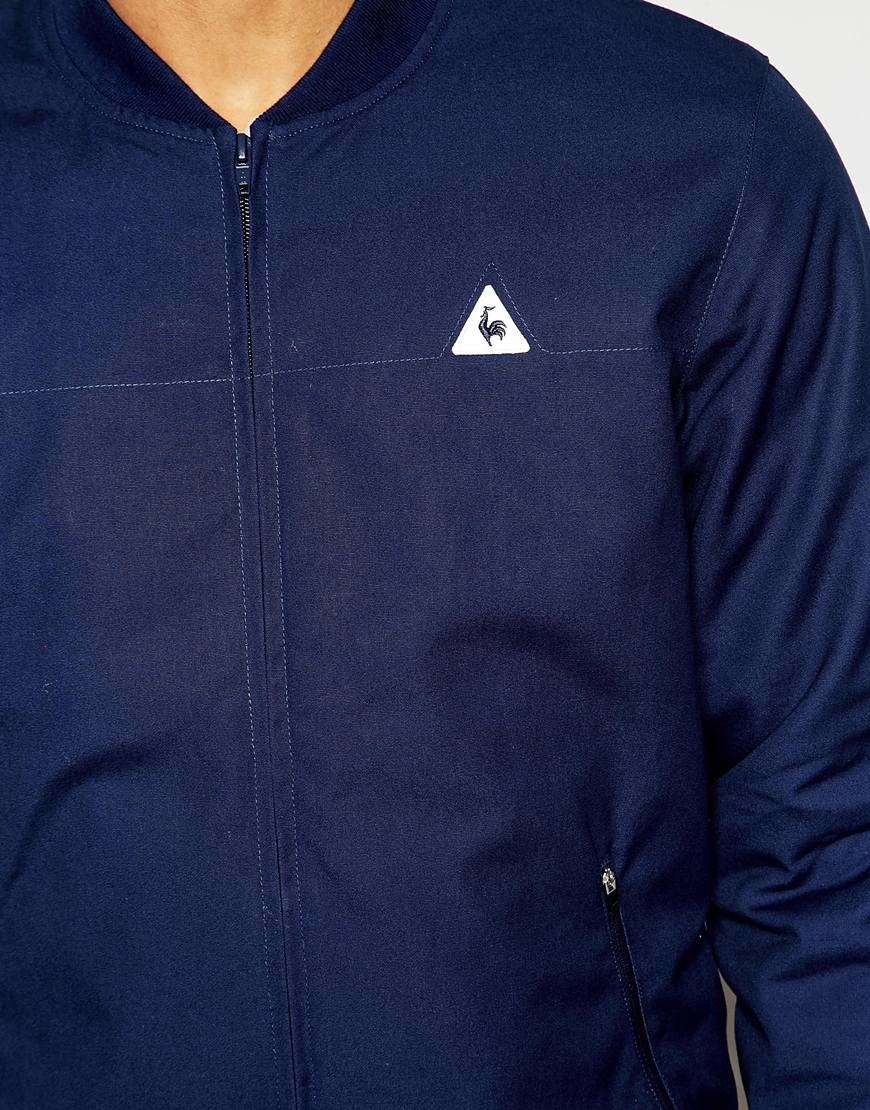 Le Coq Sportif Bomber Jacket Blue In Blue For Men Lyst