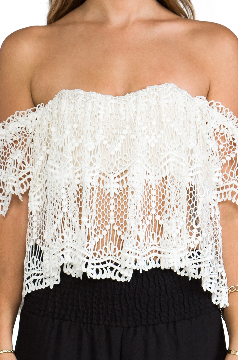 45a7354aea3 Lyst - Stone Cold Fox Moroccan Holy Tube Top in Ivory in White