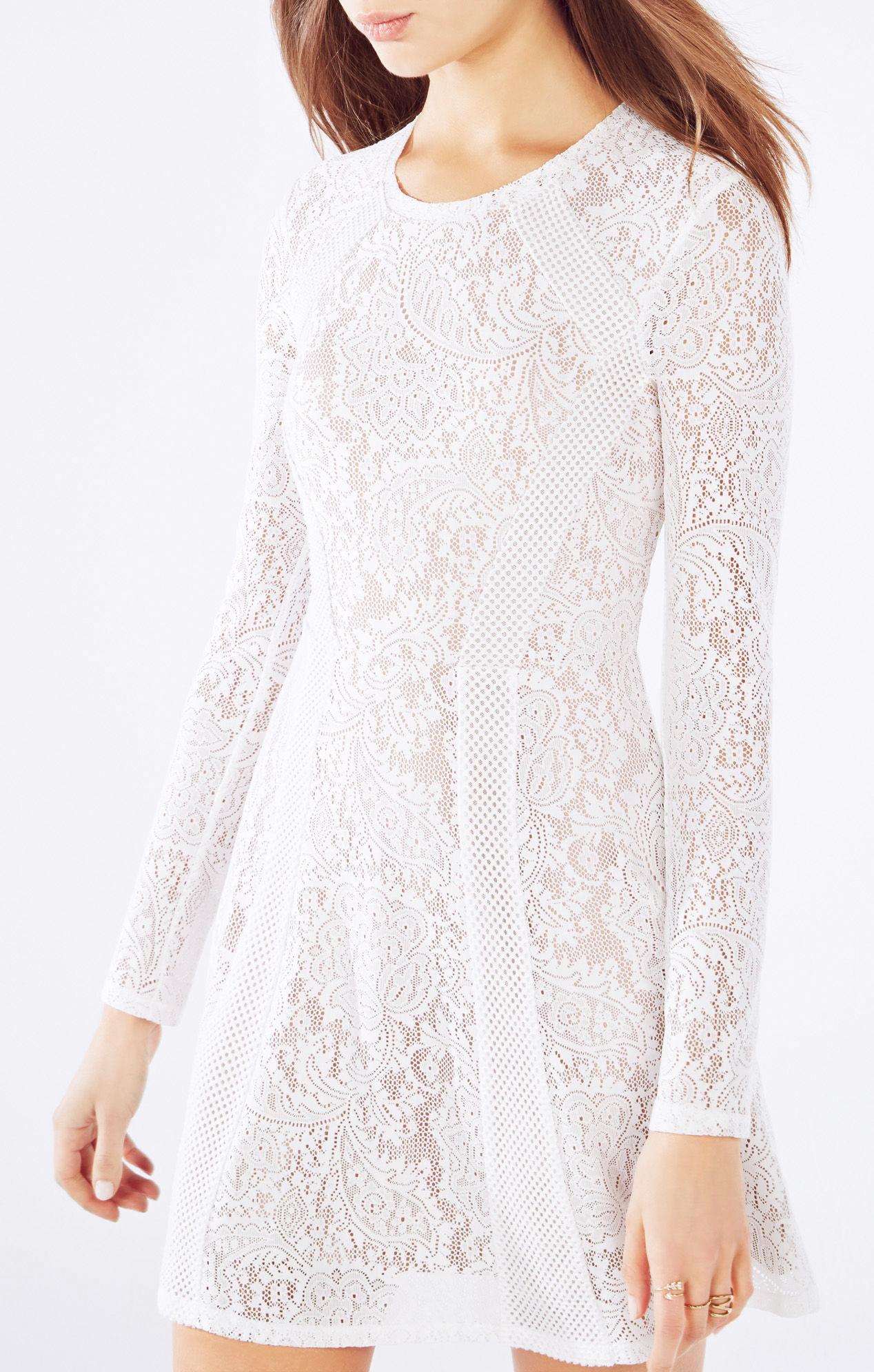eff5983e95 Bcbg White Lace Dress Long Sleeve - Photo Dress Wallpaper HD AOrg