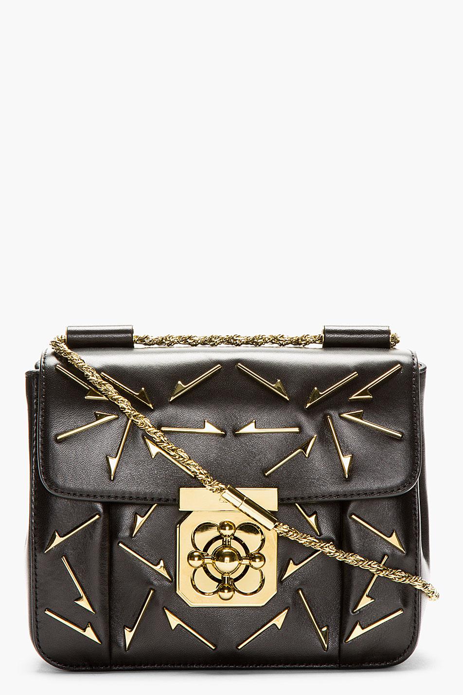 chloe python handbag - Chlo�� Black Leather Arrow Elsie Small Shoulder Bag in Black | Lyst