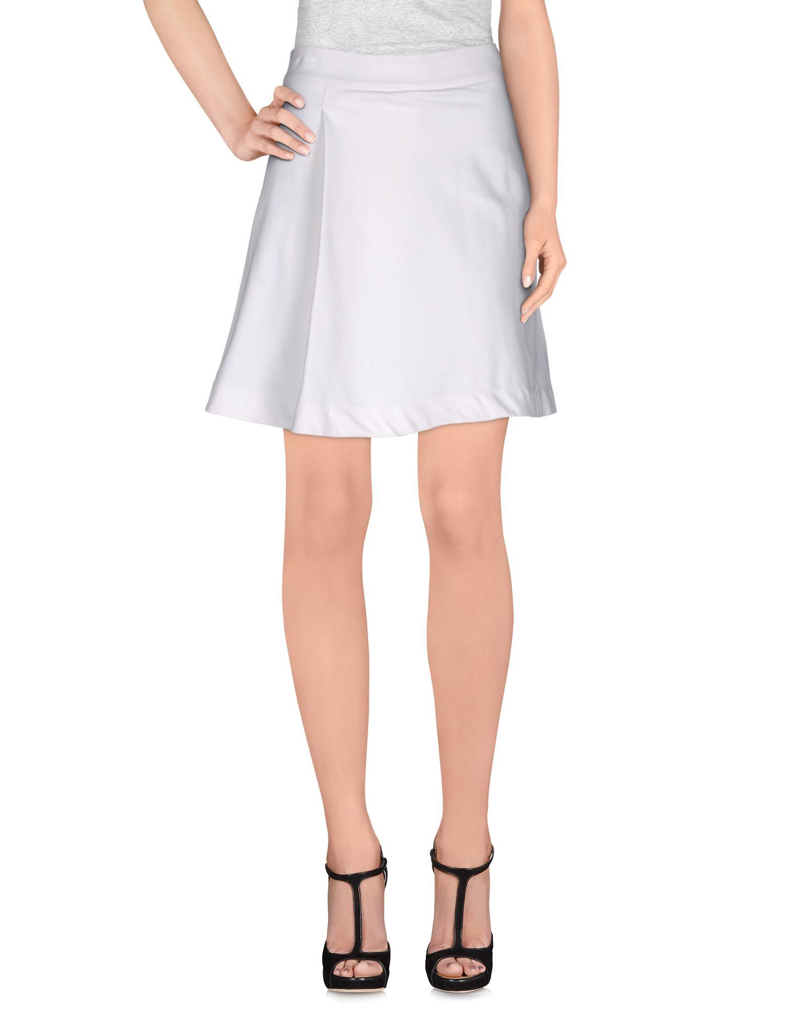 pinko mini skirt in white save 64 lyst