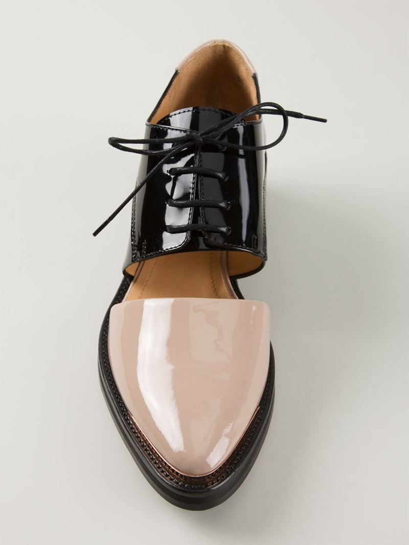 Lyst Avelon Picker Cut Out Shoes In Natural