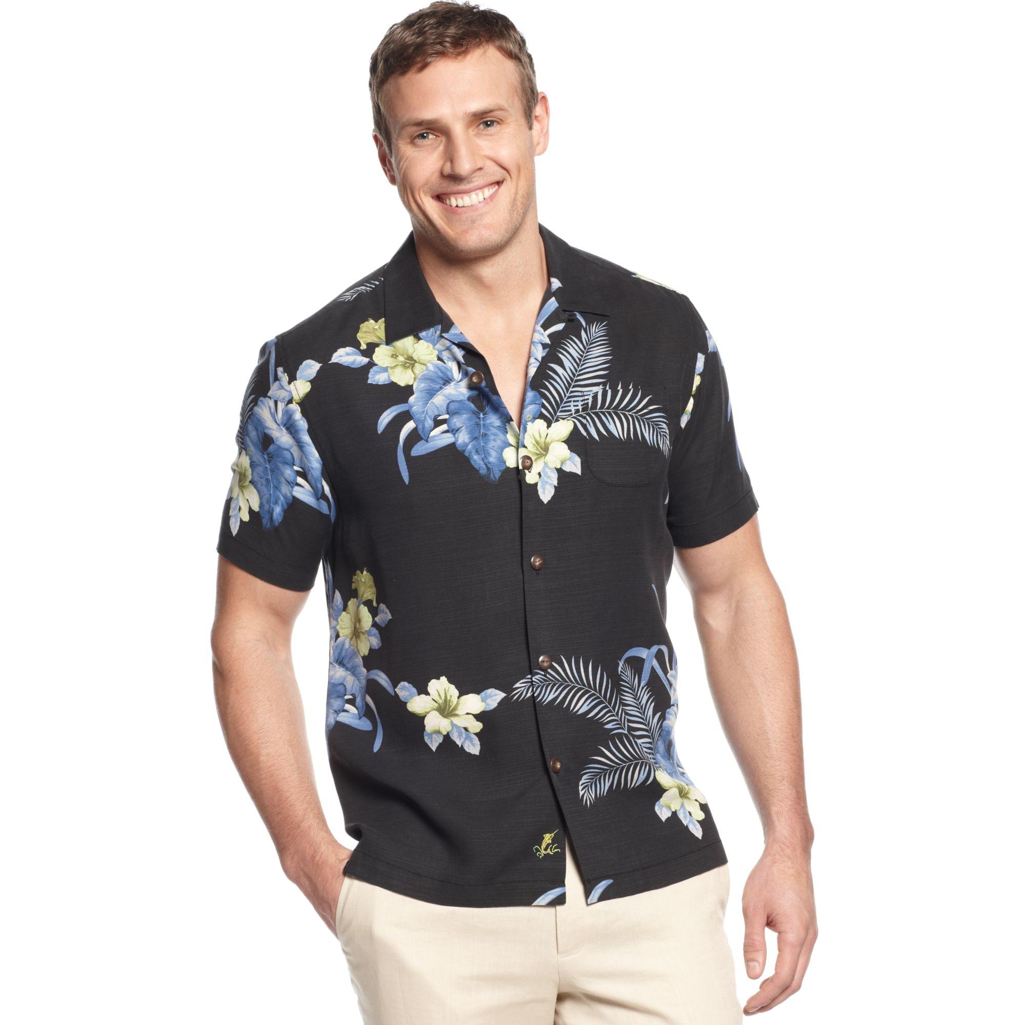 Tommy Bahama Big And Tall Silk Castleton Botanical Shirt