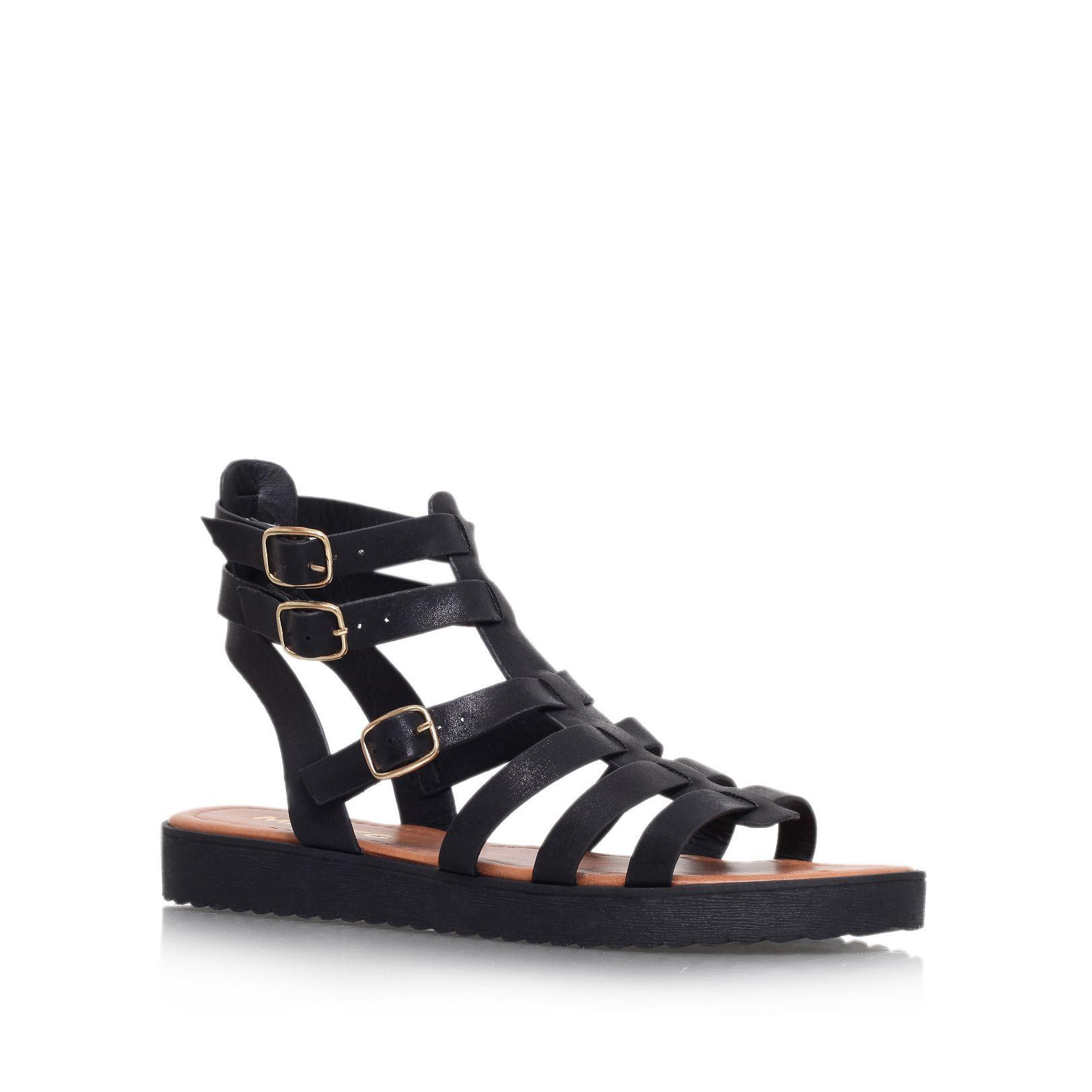 miss kg flat strappy sandals in black lyst