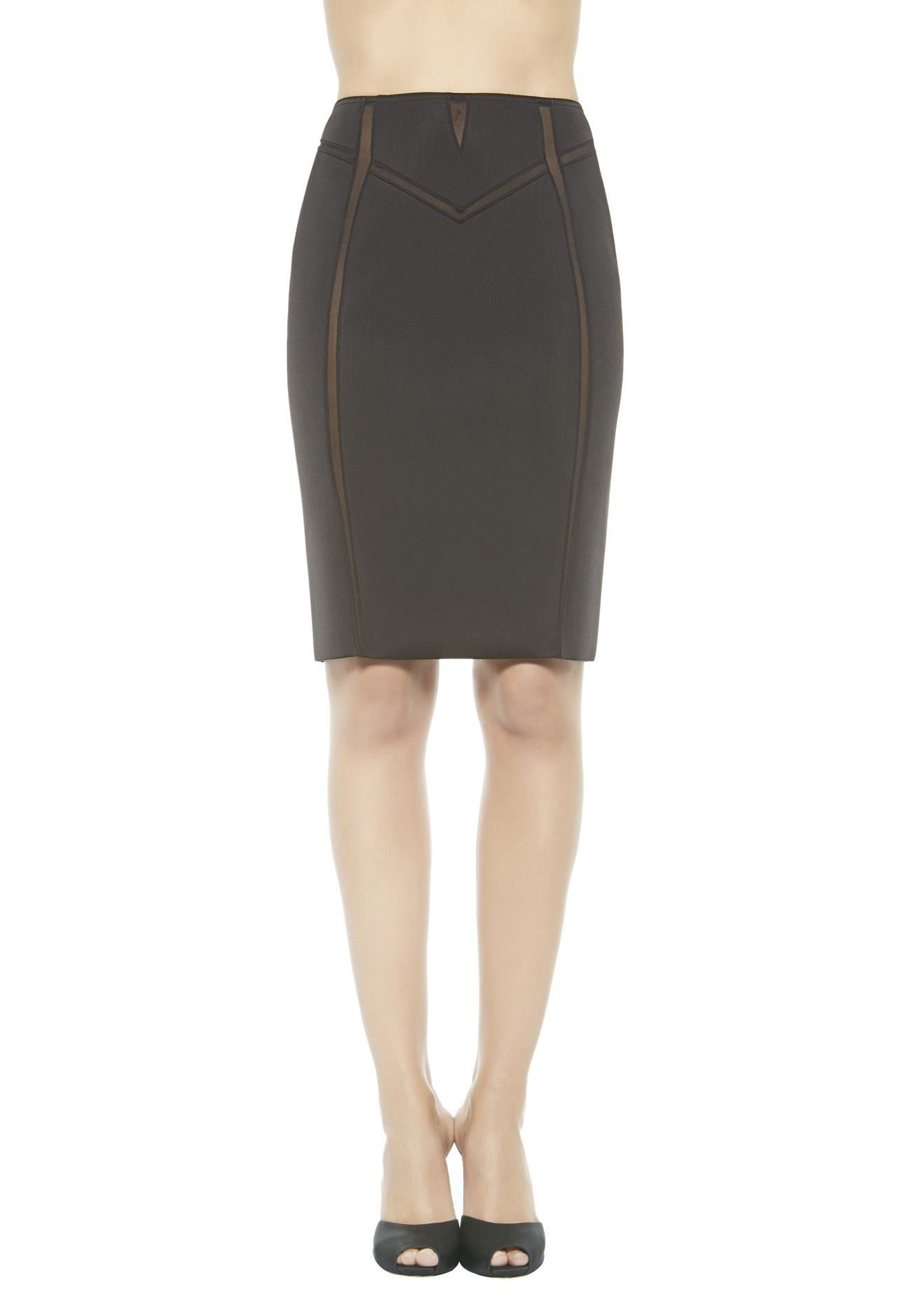 la perla scuba couture pencil skirt in black lyst