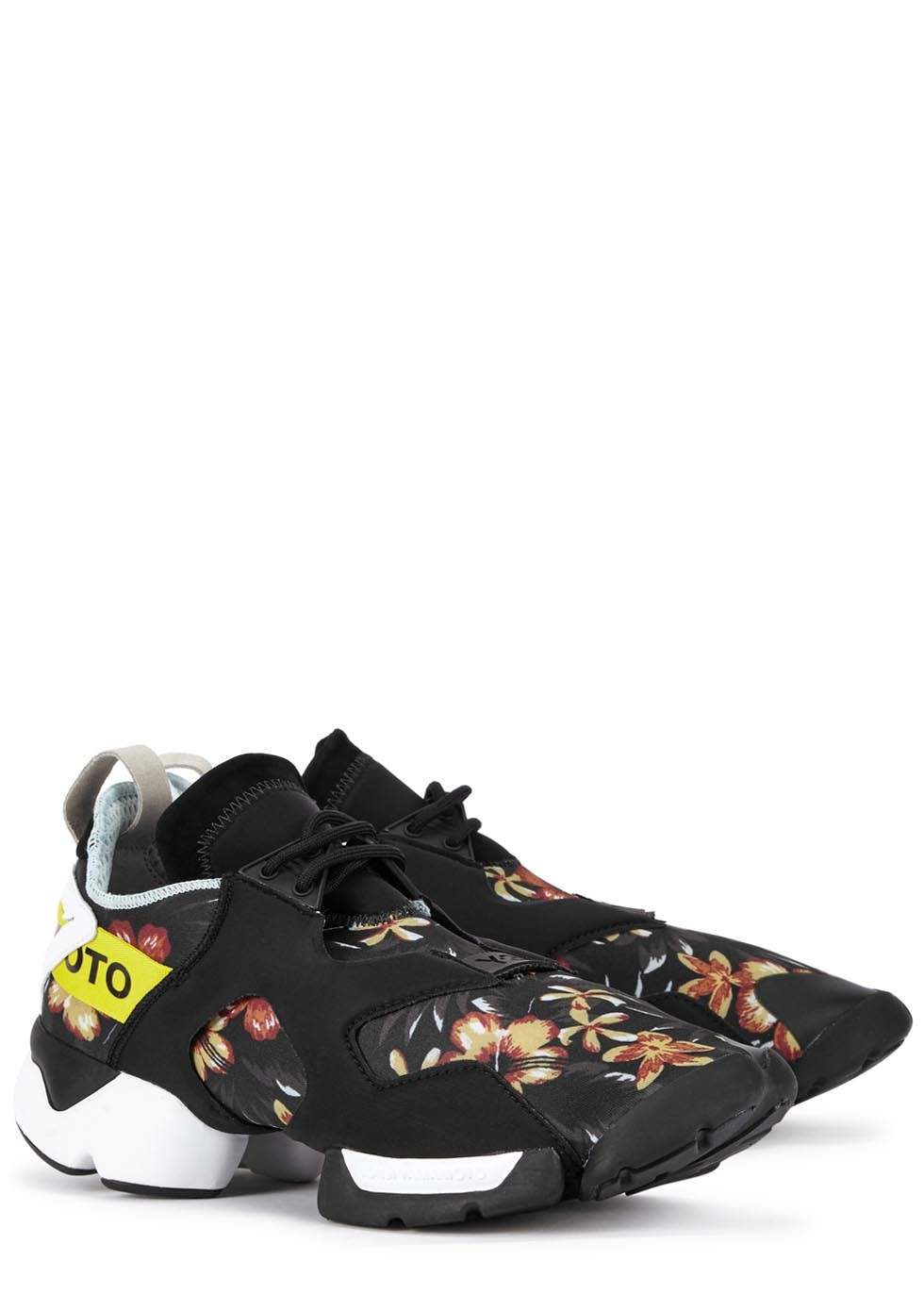 eb766286f0421 Y-3 Kohna Printed Neoprene Trainers for Men - Lyst
