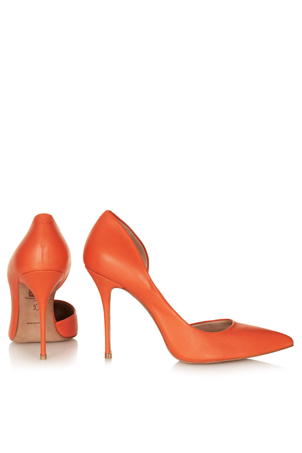 Lyst Topshop Leather High Heel Court Shoes By Kurt