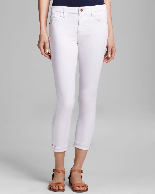 Joe's jeans Rolled Skinny Crop in White | Lyst