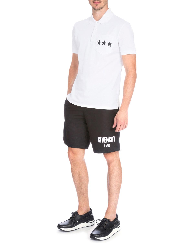 fc9832a2066145 Lyst - Givenchy Logo-print Swim Trunks in Black for Men