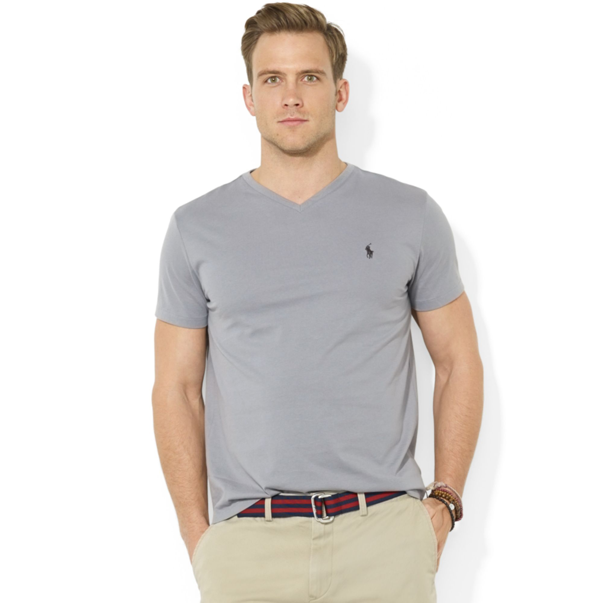 Polo Ralph Lauren Core Medium Fit V Neck Cotton Jersey T