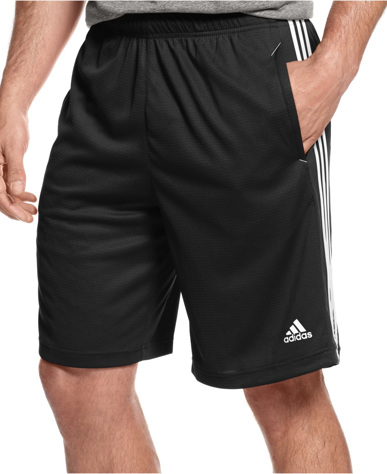 adidas climalite essential shorts in red for men lyst. Black Bedroom Furniture Sets. Home Design Ideas