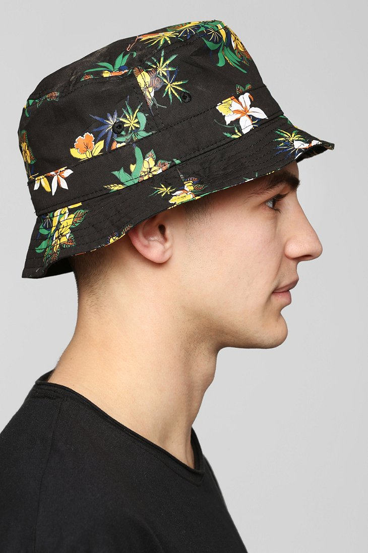 Lyst - Obey Sativa Floral Bucket Hat in Black for Men f29fcacc7b0
