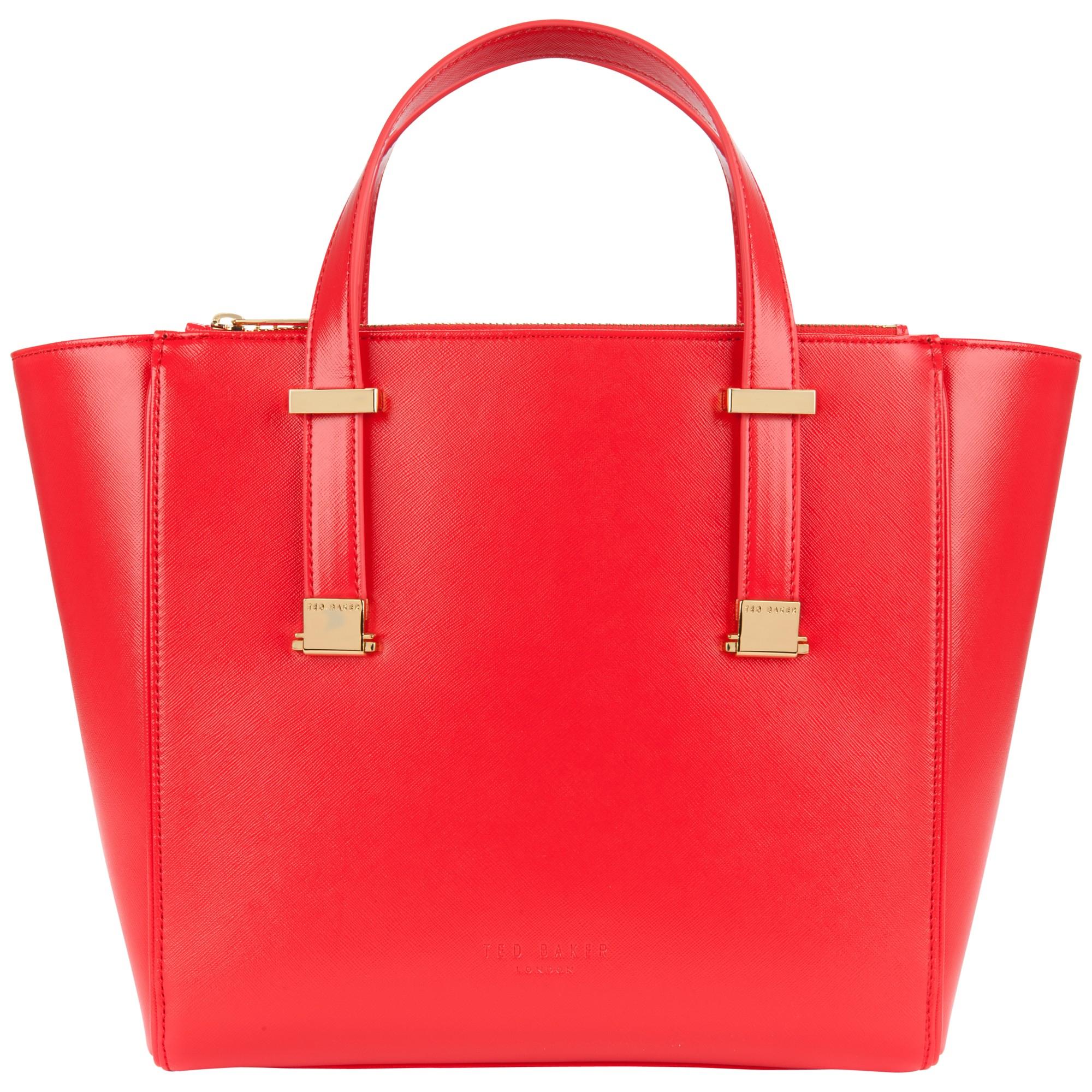 8af6383aa37853 ... Ted Baker Lela Crosshatch Shopper Bag in Red - Lyst half off c1c89  dc4fc ...