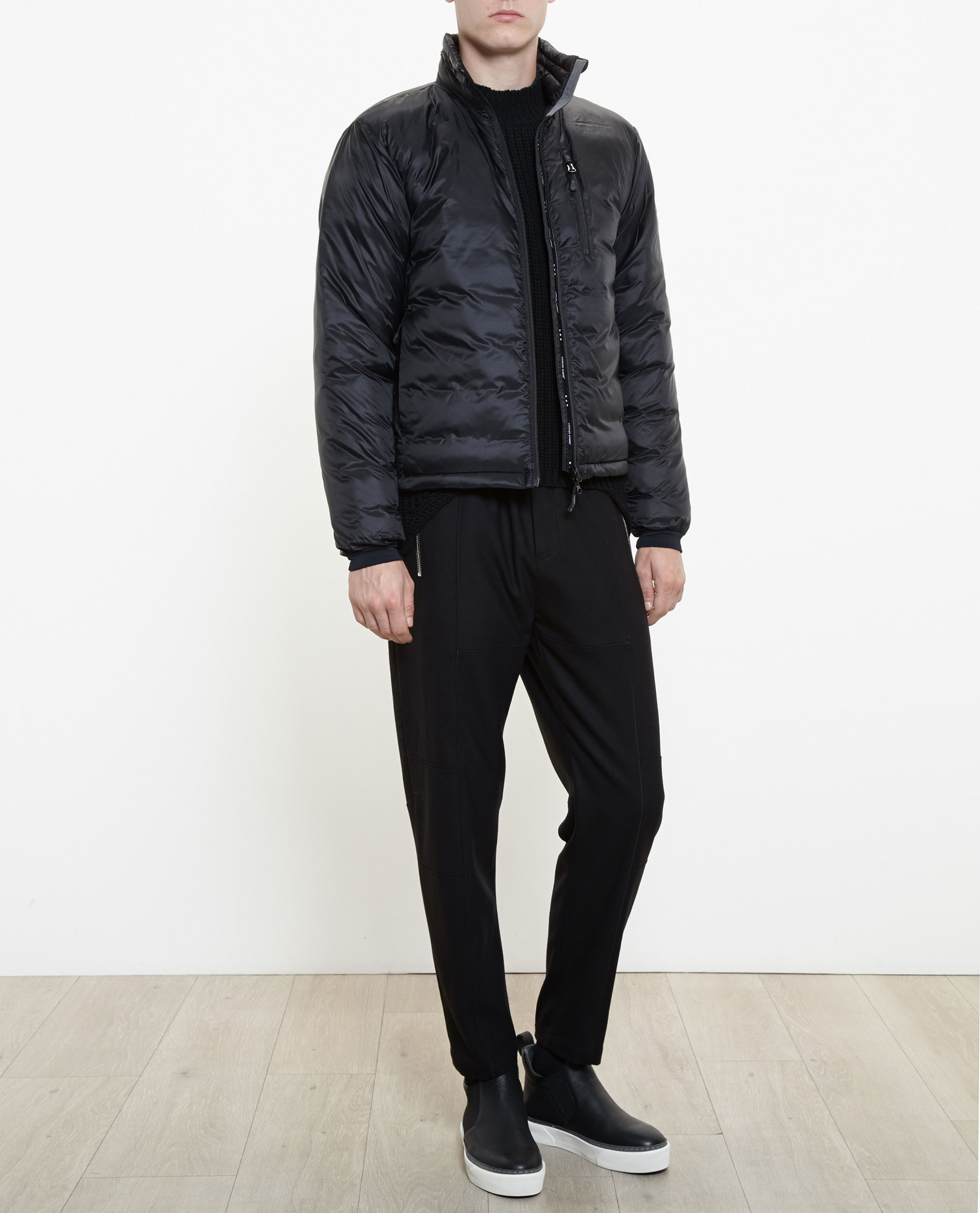 Canada Goose kids outlet fake - Canada goose Lodge Puffa Jacket in Black | Lyst