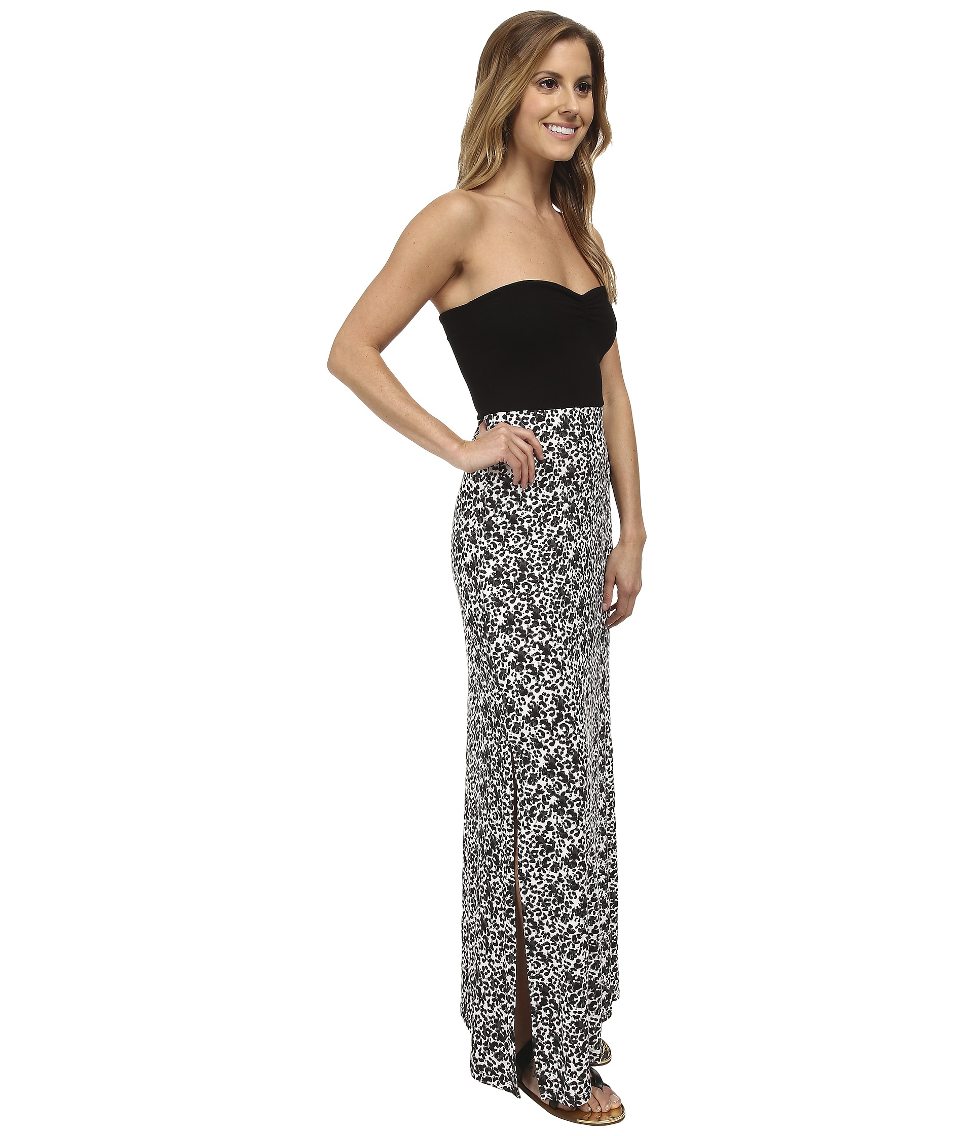 Hurley Tomboy Maxi Strapless Dress in Black - Lyst